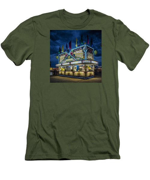 Glittering Concession Stand At The Colorado State Fair In Pueblo In Colorado Men's T-Shirt (Slim Fit) by Carol M Highsmith