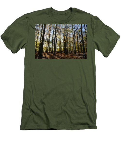 Men's T-Shirt (Athletic Fit) featuring the photograph Glorious Forest by Kennerth and Birgitta Kullman