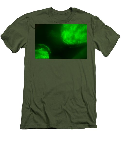 Men's T-Shirt (Athletic Fit) featuring the photograph Glowing Orbs by Greg Collins