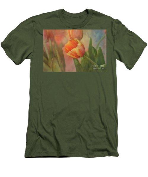 Glowing Tulip Men's T-Shirt (Slim Fit) by Joan Bertucci