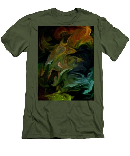 Men's T-Shirt (Slim Fit) featuring the painting Goblinz Abstract by Sheila Mcdonald