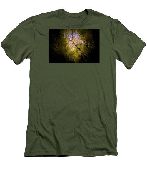 God Answers Men's T-Shirt (Slim Fit) by The Art Of Marilyn Ridoutt-Greene