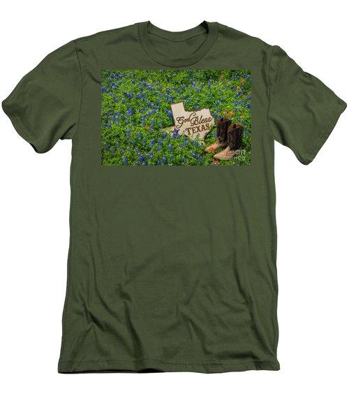 God Bless Texas II Men's T-Shirt (Slim Fit) by John Roberts