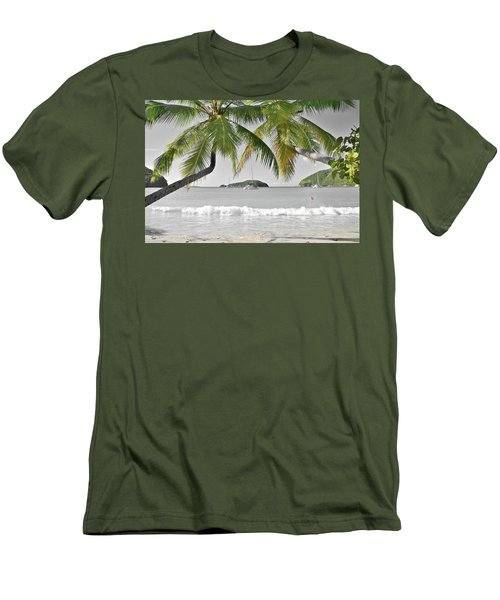 Men's T-Shirt (Slim Fit) featuring the photograph Going Green To Save Paradise by Frozen in Time Fine Art Photography