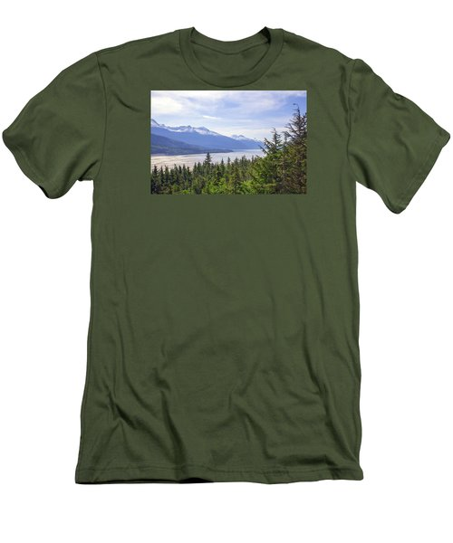 Going Up The Mountain Men's T-Shirt (Slim Fit) by Allan Levin