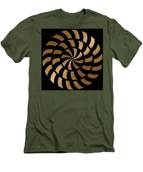 Gold And Black Ny Design Men's T-Shirt (Athletic Fit)