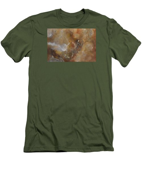 Men's T-Shirt (Slim Fit) featuring the painting Gold Bliss by Tamara Bettencourt