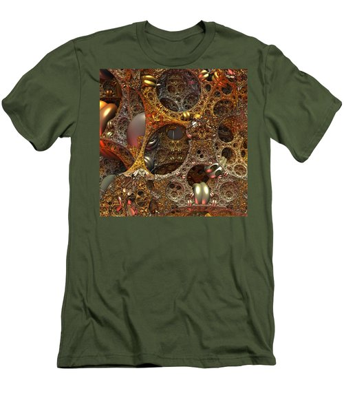 Men's T-Shirt (Slim Fit) featuring the digital art Gold Mine by Lyle Hatch