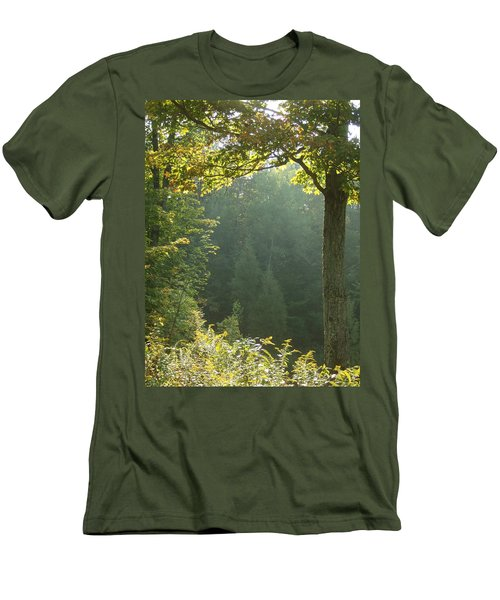 Gold On Green Men's T-Shirt (Athletic Fit)