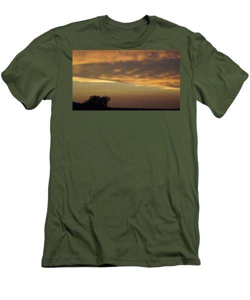 Gold Sky Over Lake Of The Ozarks Men's T-Shirt (Slim Fit) by Don Koester