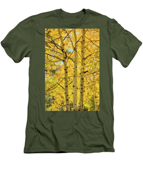 Men's T-Shirt (Athletic Fit) featuring the photograph Golden Birch  by Saija Lehtonen