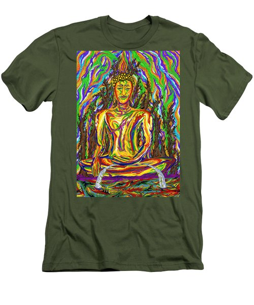 Golden Buddha Men's T-Shirt (Athletic Fit)