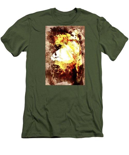 Golden Butterfly Men's T-Shirt (Slim Fit) by Andrea Barbieri