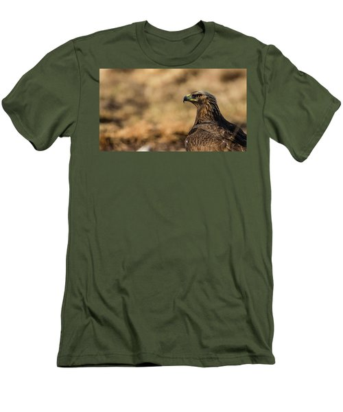 Men's T-Shirt (Slim Fit) featuring the photograph Golden Eagle by Torbjorn Swenelius