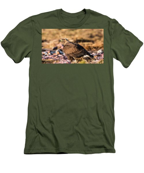 Men's T-Shirt (Slim Fit) featuring the photograph Golden Eagle's Back by Torbjorn Swenelius
