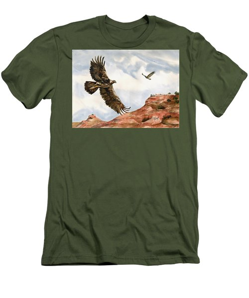 Golden Eagles In Fligh Men's T-Shirt (Athletic Fit)