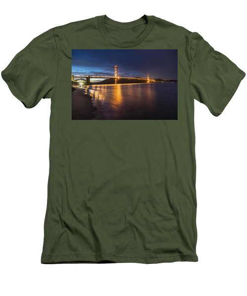 Golden Gate Blue Hour Men's T-Shirt (Slim Fit) by John McGraw