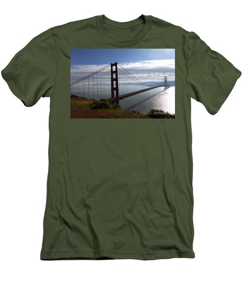 Men's T-Shirt (Slim Fit) featuring the photograph Golden Gate Bridge-2 by Steven Spak