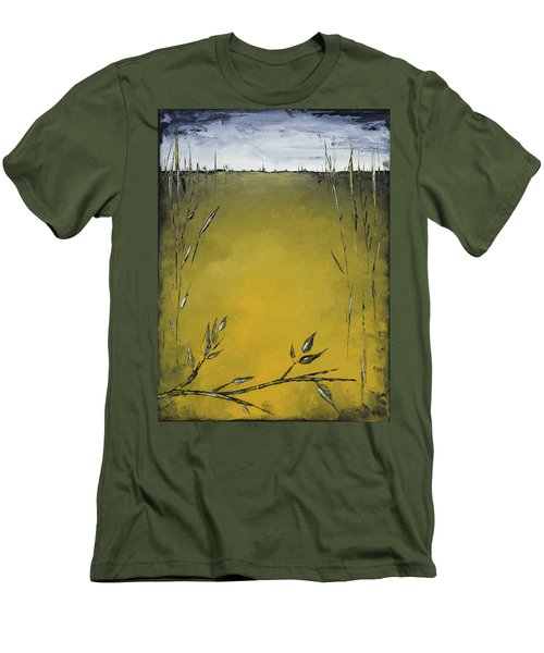 Golden Greens Men's T-Shirt (Slim Fit) by Carolyn Doe