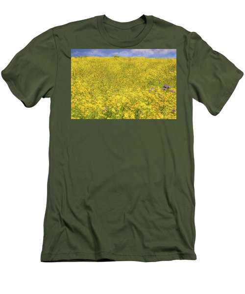 Men's T-Shirt (Slim Fit) featuring the photograph Golden Hillside by Marc Crumpler