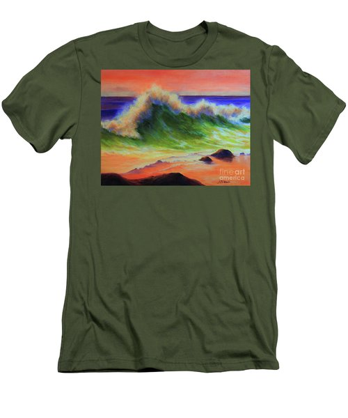 Golden Hour Sea Men's T-Shirt (Slim Fit) by Jeanette French