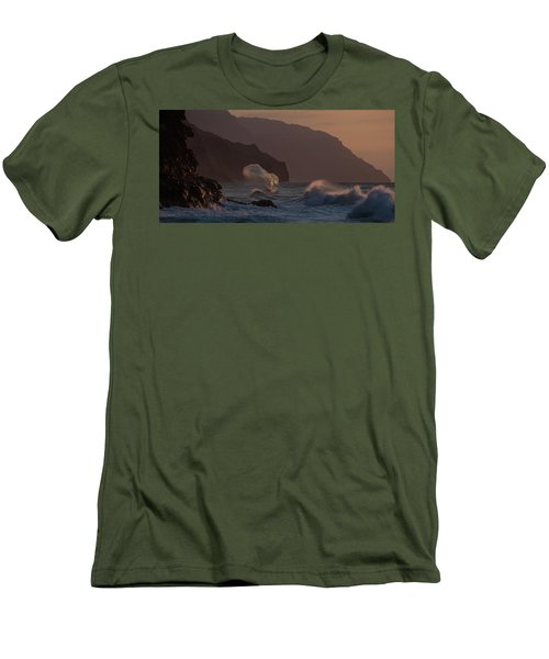 Golden Hour Wave Men's T-Shirt (Athletic Fit)