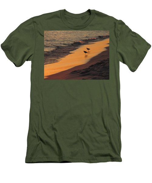 Men's T-Shirt (Slim Fit) featuring the photograph Golden Light At Sunset by Teresa Schomig
