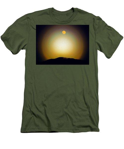 Men's T-Shirt (Slim Fit) featuring the photograph Golden Moon by Joseph Frank Baraba