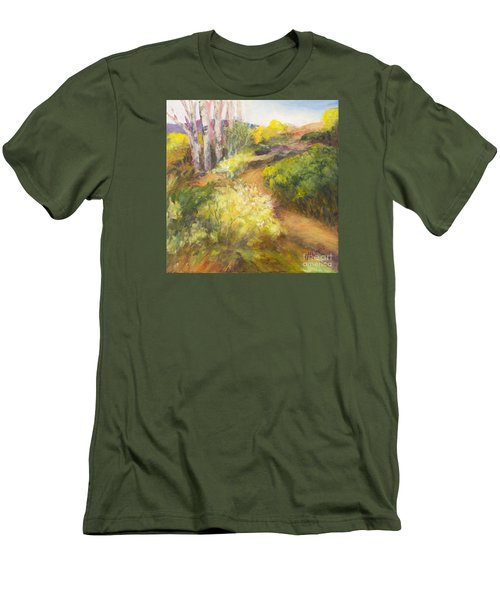 Golden Pathway Men's T-Shirt (Slim Fit) by Glory Wood