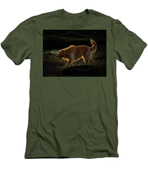 Men's T-Shirt (Slim Fit) featuring the photograph Golden by Randy Hall