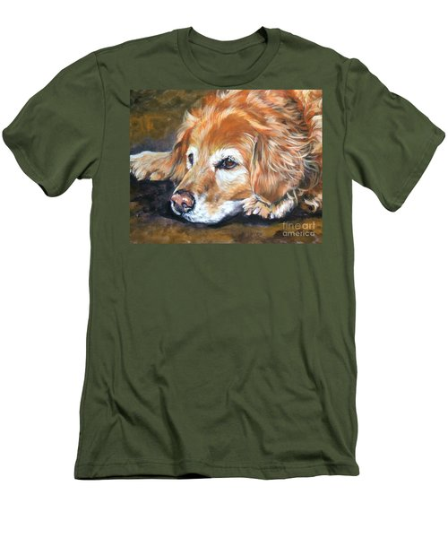 Golden Retriever Senior Men's T-Shirt (Slim Fit) by Lee Ann Shepard