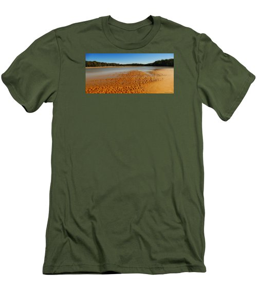 Men's T-Shirt (Slim Fit) featuring the photograph Golden Sand 01 by Kevin Chippindall