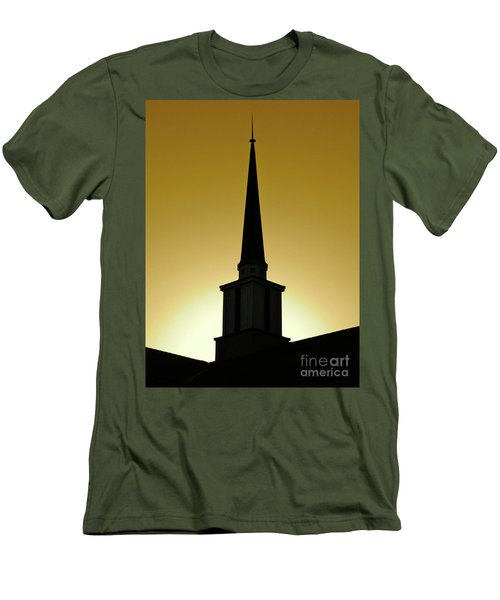 Golden Sky Steeple Men's T-Shirt (Slim Fit) by CML Brown