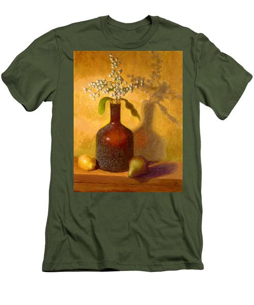 Men's T-Shirt (Slim Fit) featuring the painting Golden Still Life by Joe Bergholm