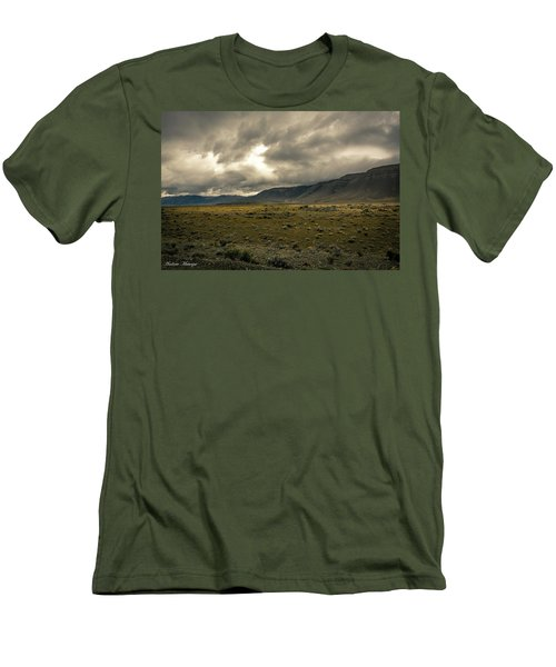 Men's T-Shirt (Slim Fit) featuring the photograph Golden Storm by Andrew Matwijec