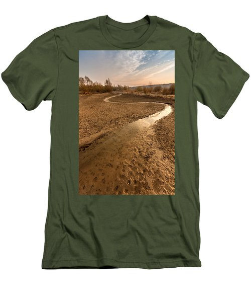 Men's T-Shirt (Slim Fit) featuring the photograph Golden Stream by Davorin Mance