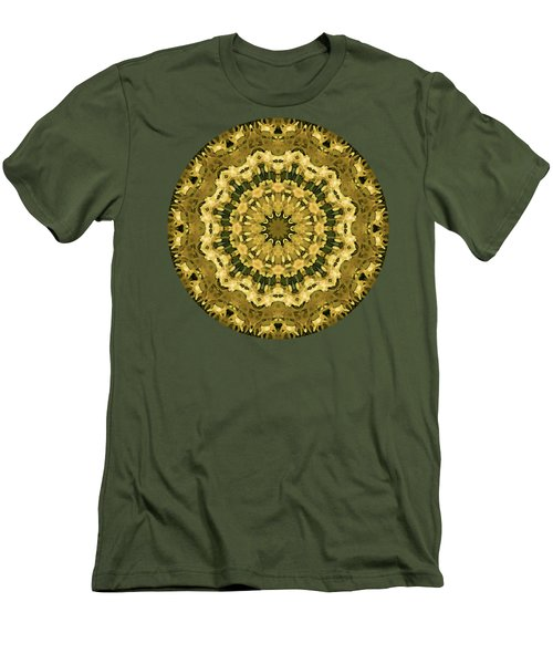 Goldenrod Mandala -  Men's T-Shirt (Athletic Fit)
