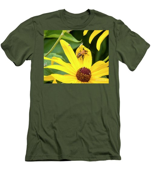 Men's T-Shirt (Athletic Fit) featuring the photograph Goldenrod Soldier Beetle by Ricky L Jones
