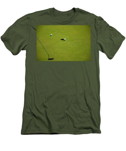 Golf - The Longest Inch Men's T-Shirt (Slim Fit) by Chris Flees