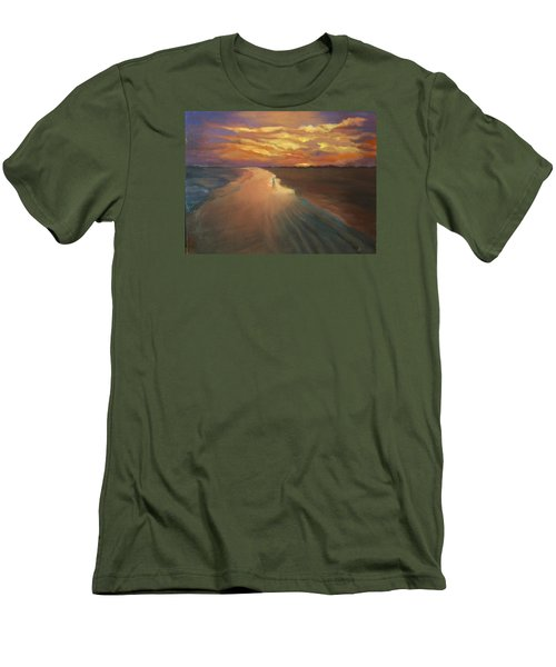 Men's T-Shirt (Slim Fit) featuring the painting Good Night by Alla Parsons