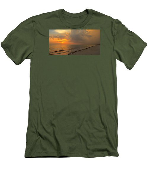 Good Night Sun Men's T-Shirt (Slim Fit) by Sean Allen