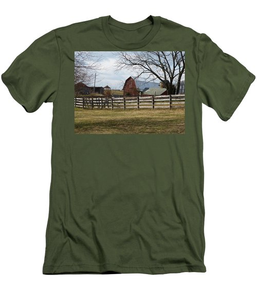 Men's T-Shirt (Slim Fit) featuring the photograph Good Old Barn by Donald C Morgan