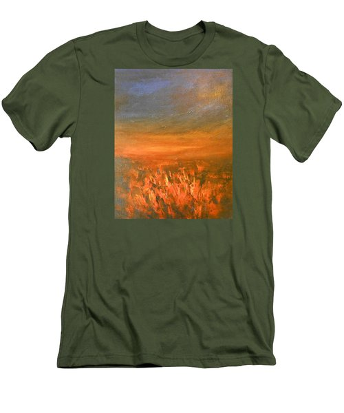 Men's T-Shirt (Slim Fit) featuring the painting Goodbye by Jane See