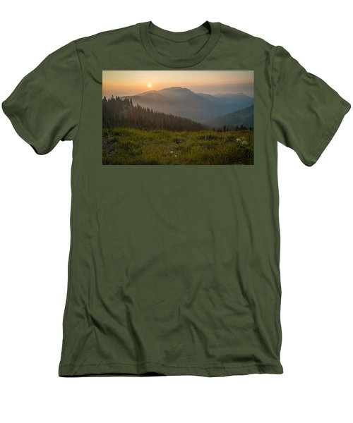 Goodnight Mountains Men's T-Shirt (Slim Fit) by Kristopher Schoenleber