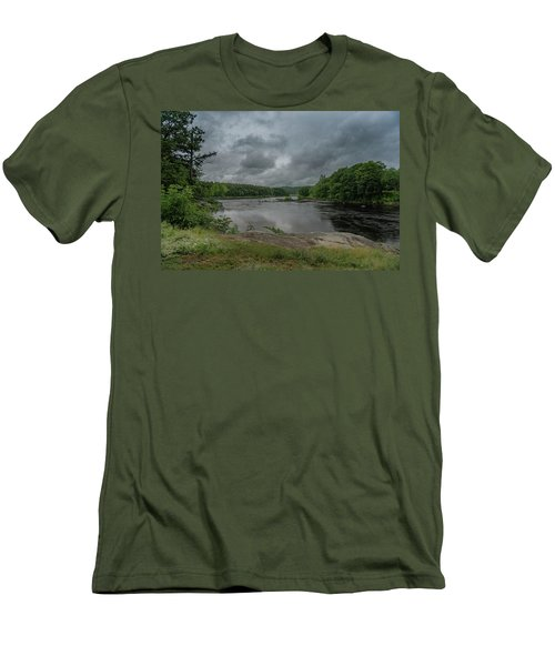 Men's T-Shirt (Athletic Fit) featuring the photograph Googin's Island Revisited by Guy Whiteley