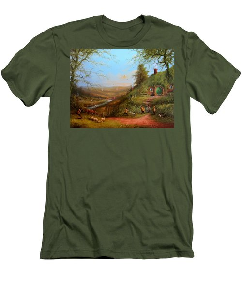 Gossip At The Gate Men's T-Shirt (Athletic Fit)
