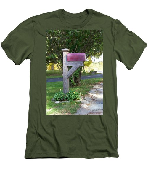 Men's T-Shirt (Slim Fit) featuring the digital art Got Mail by Barbara S Nickerson