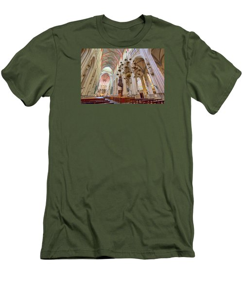 Gothic Cathedral  Men's T-Shirt (Slim Fit) by Nadia Sanowar