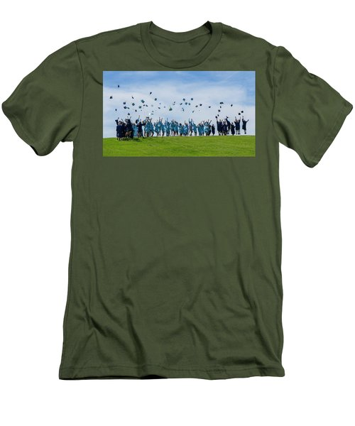 Men's T-Shirt (Slim Fit) featuring the photograph Graduation Day by Alan Toepfer