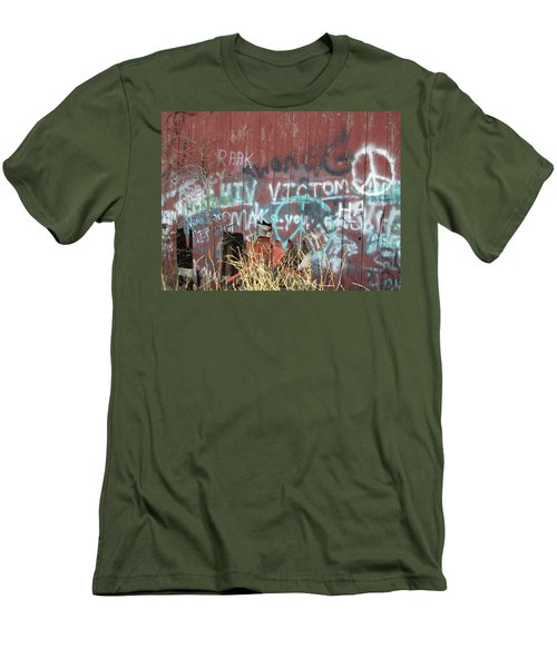 Men's T-Shirt (Slim Fit) featuring the photograph Graffiti by Cynthia Lassiter